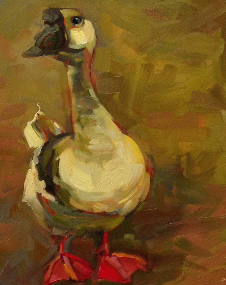 """""""Dutch, Duck, Goose!"""" original fine art by Patti McNutt"""
