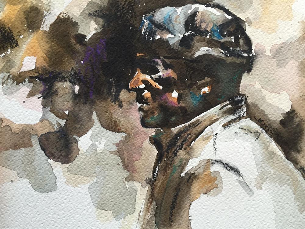 """""""ARAB MAN"""" original fine art by Ferran Llagostera"""