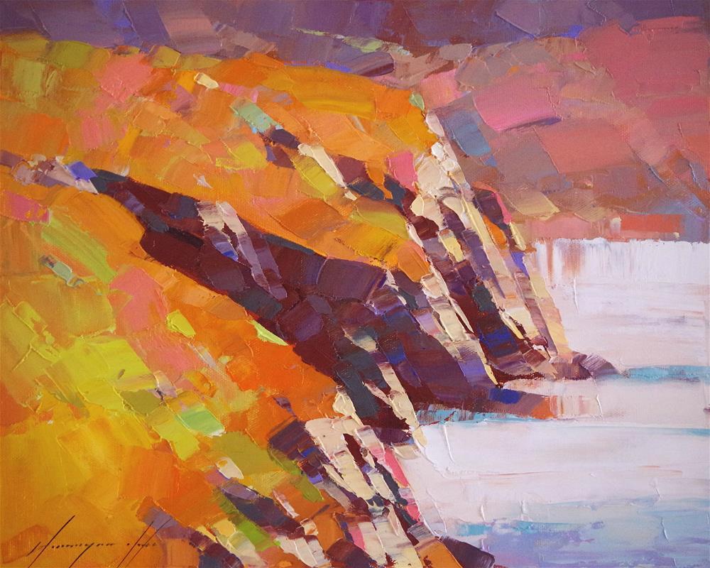 """Ocean Side, Seascape, Oil painting, Handmade art, Impressionism"" original fine art by V Yeremyan"