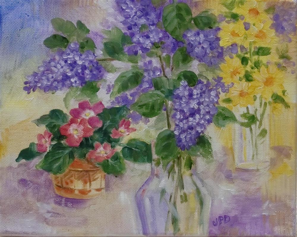 """""""Lilac Bouquet"""" original fine art by Jean Pierre DeBernay"""