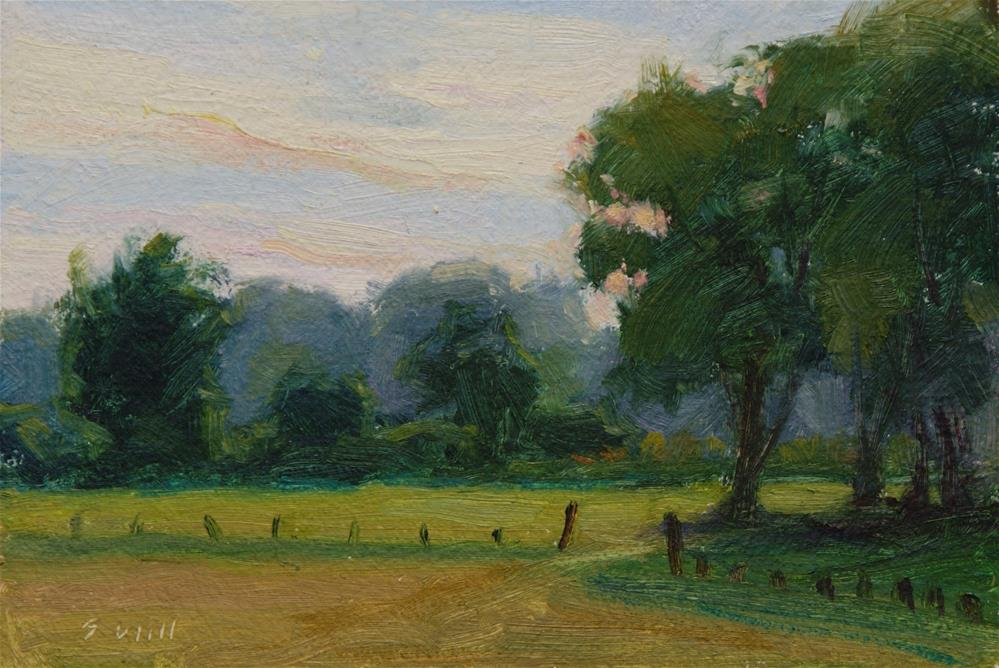 """Across the Field"" original fine art by Sharon Will"