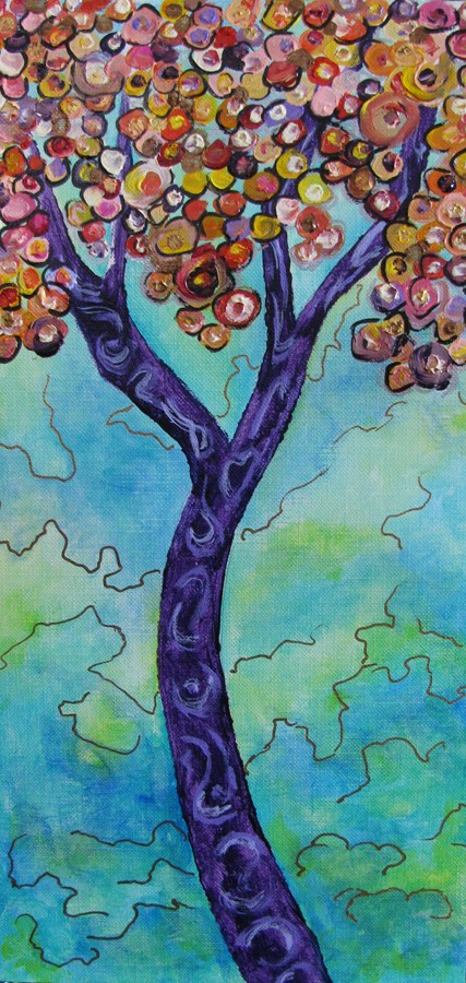 """Rendition Tree"" original fine art by Nan Johnson"