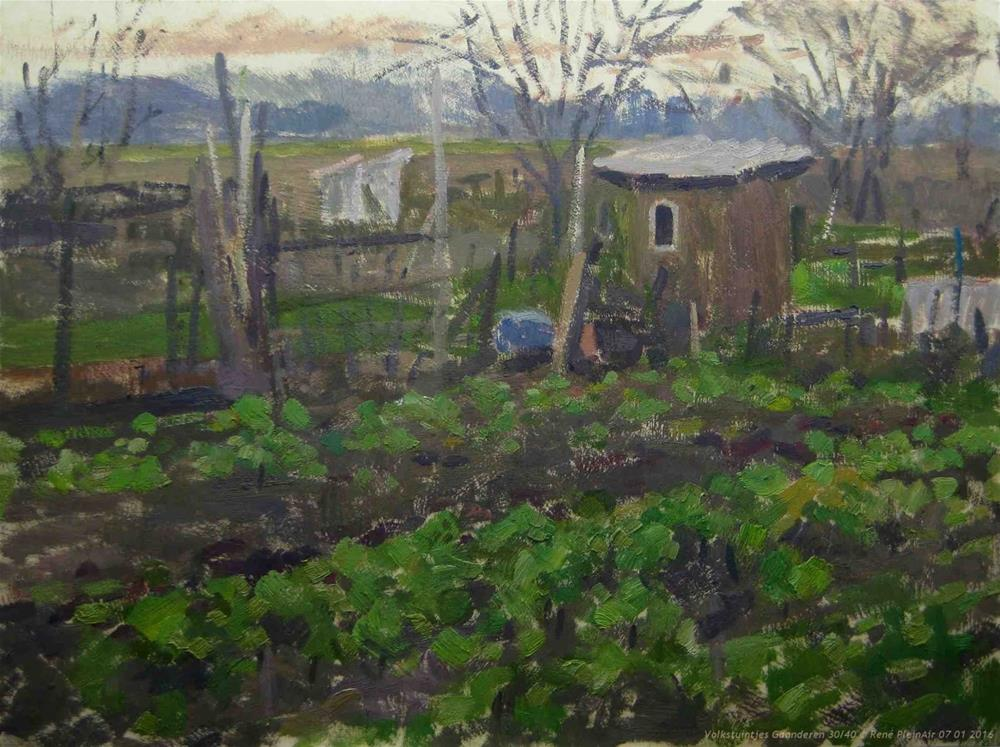 """Back to the Allotments"" original fine art by René PleinAir"