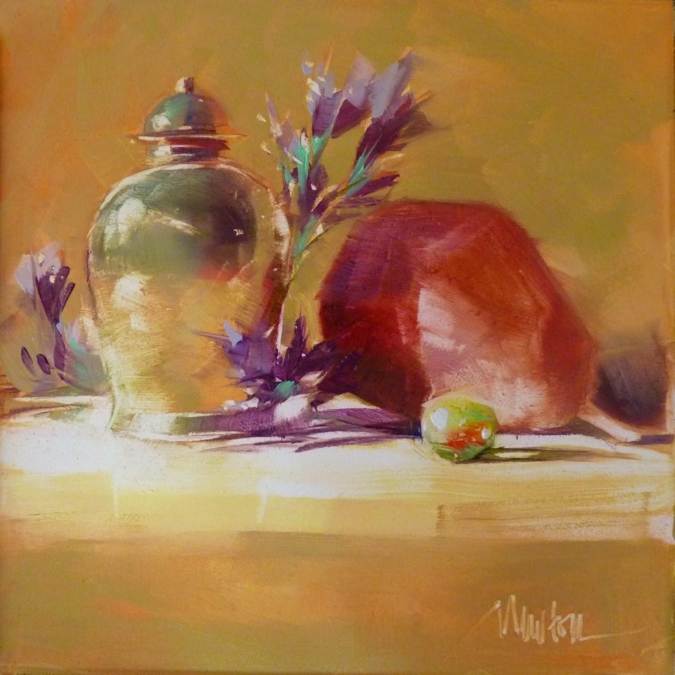 """""""Wisdom and Folly"""" original fine art by Barbara Benedetti Newton"""