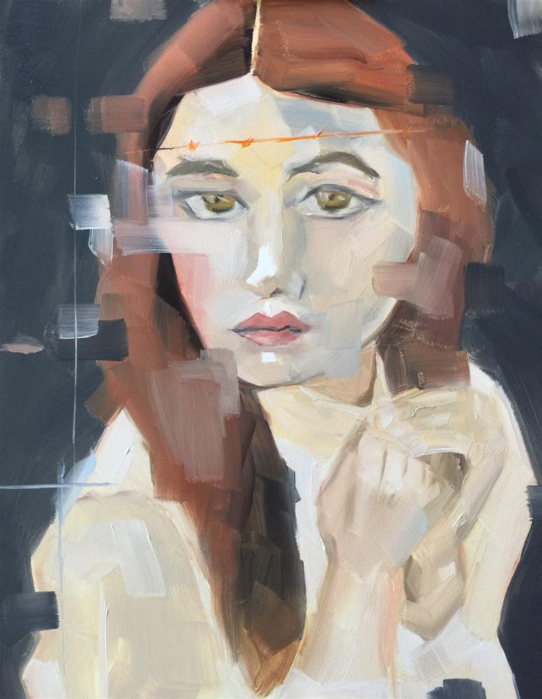 """373 Offred"" original fine art by Jenny Doh"