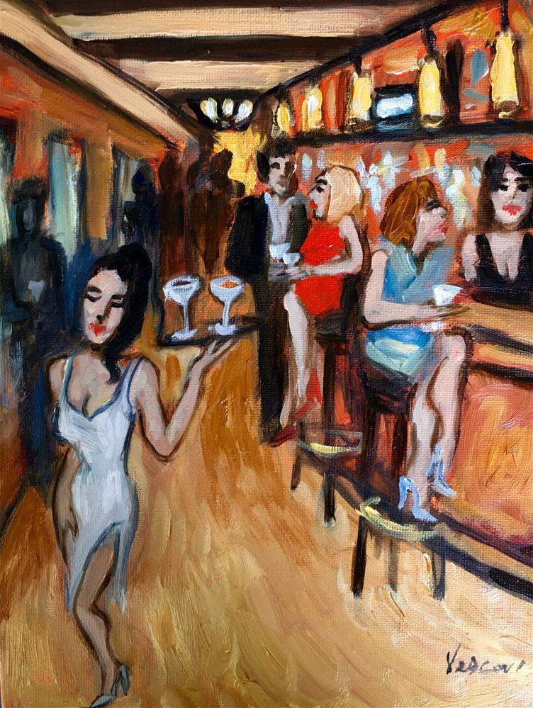 """The Tavern "" original fine art by Valerie Vescovi"