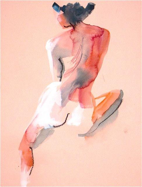 """Nude #1157 by Gretchen Kelly, New York Artist"" original fine art by Gretchen Kelly"