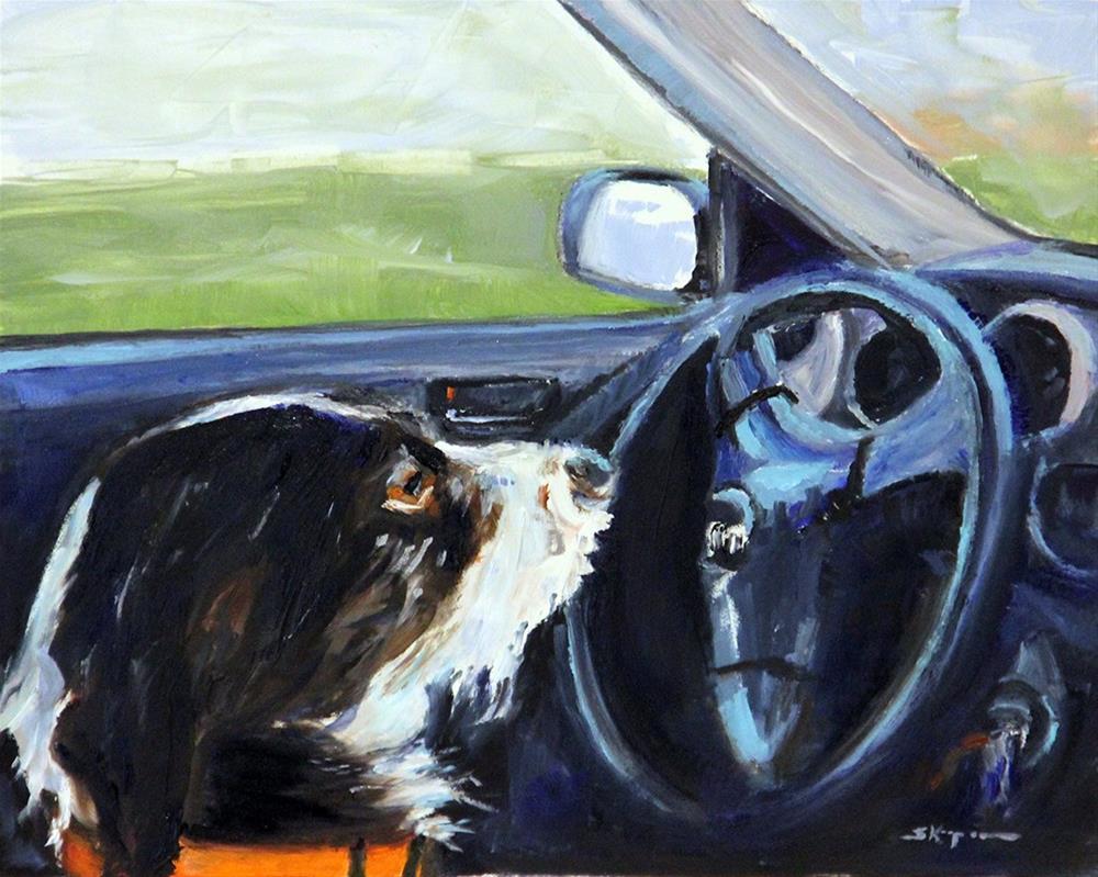 """""""Motoring"""" original fine art by Shelley Koopmann"""