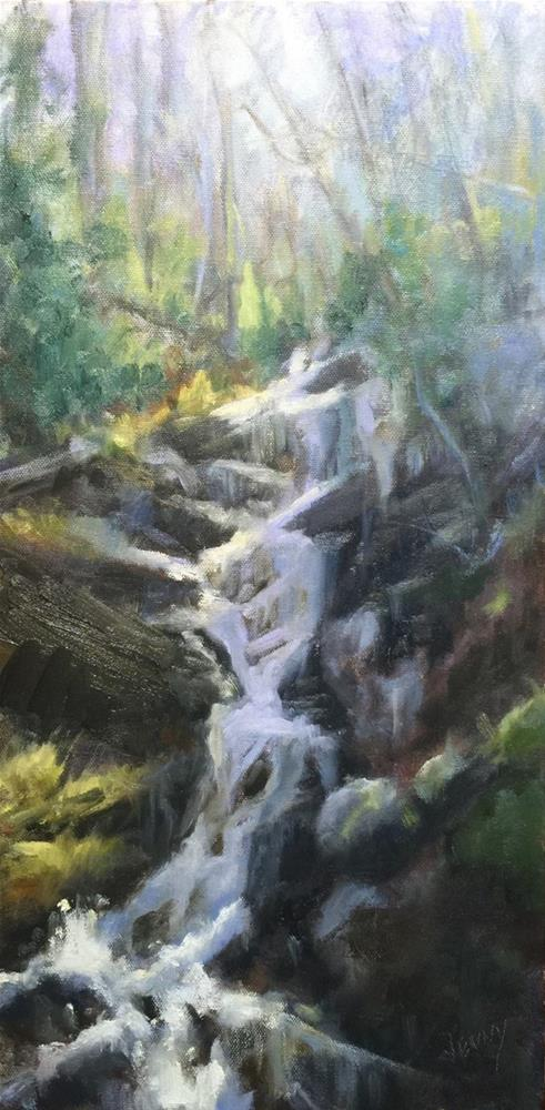 """""""Falling waters"""" original fine art by Jenny Buckner"""