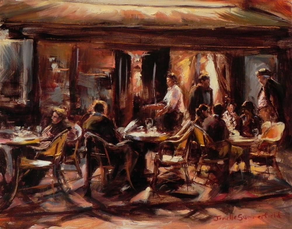 """Night Cafe in Paris II"" original fine art by Jonelle Summerfield"