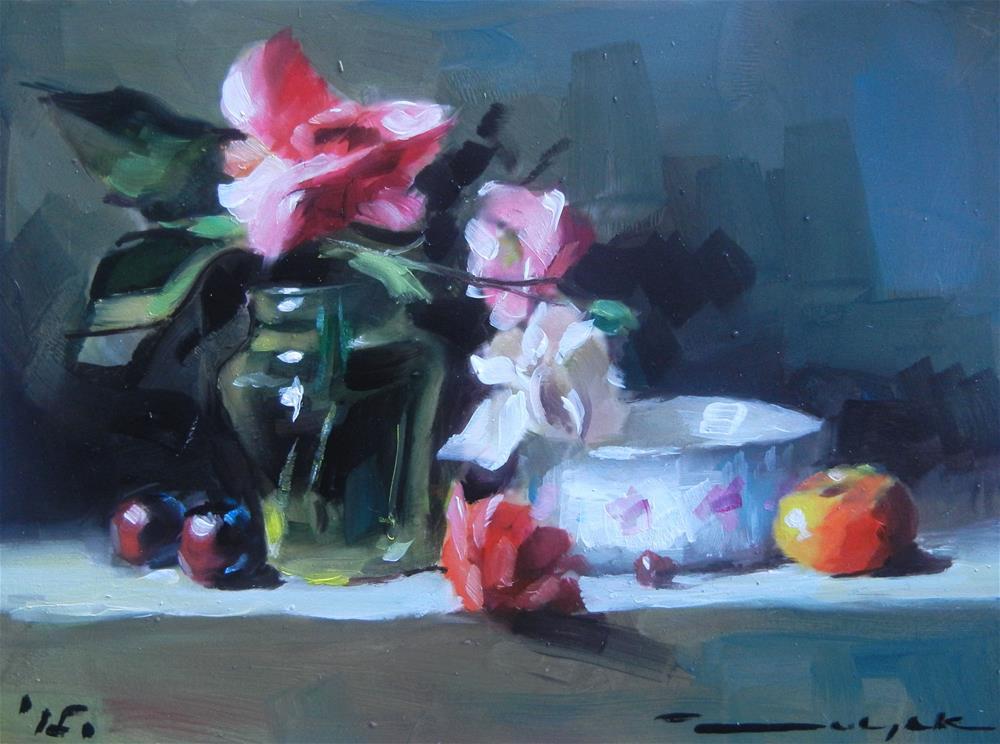 """Fresh rose"" original fine art by Dragan Culjak"