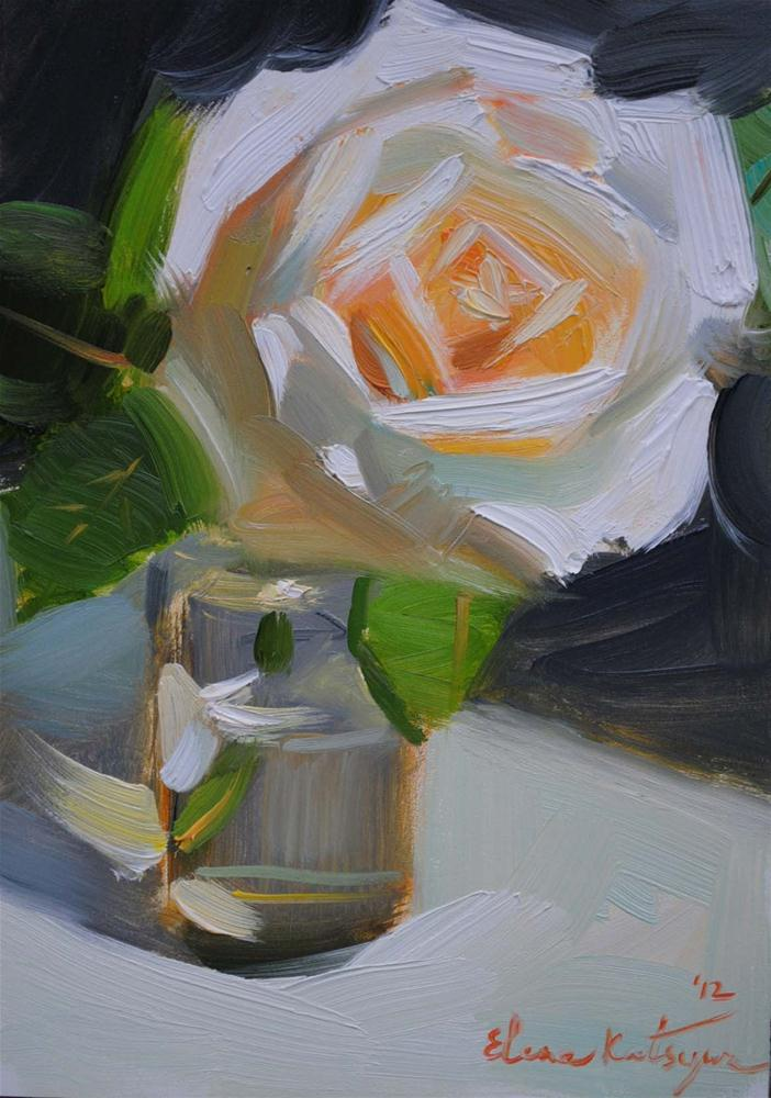 """A Rose"" original fine art by Elena Katsyura"