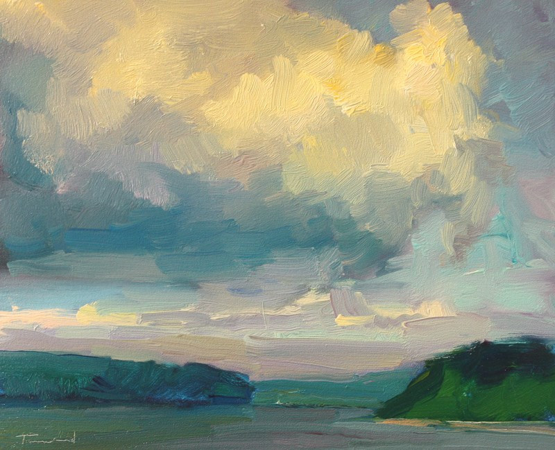 """Clouds over Dana Passage  - SOLD"" original fine art by Kathryn Townsend"