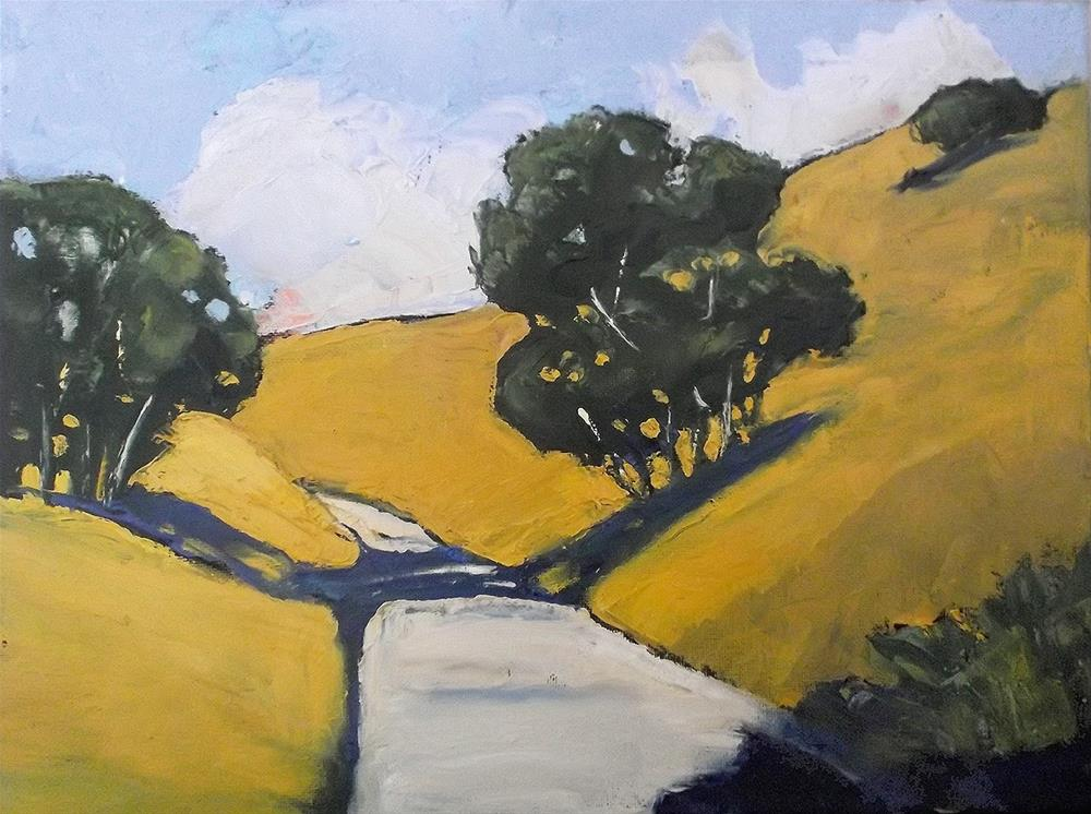 """""""California Santa Maria Oaks"""" original fine art by lynne french"""