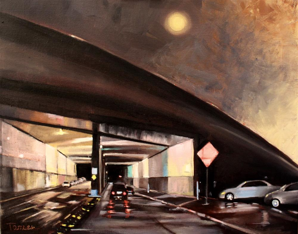 """Lilac Drive Underpass"" original fine art by Tamsen Armstrong"