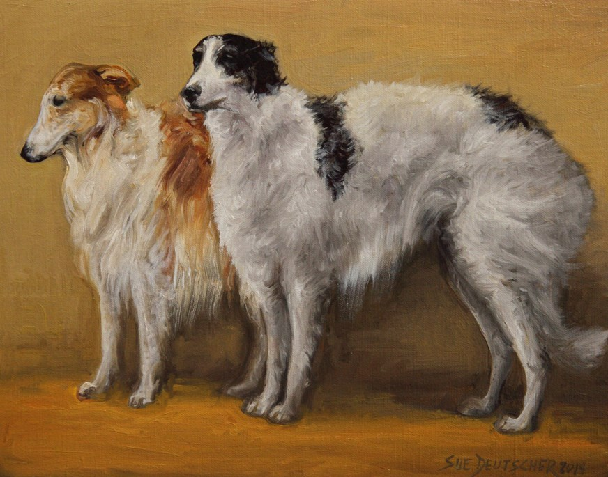 """Borzoi"" original fine art by Sue Deutscher"