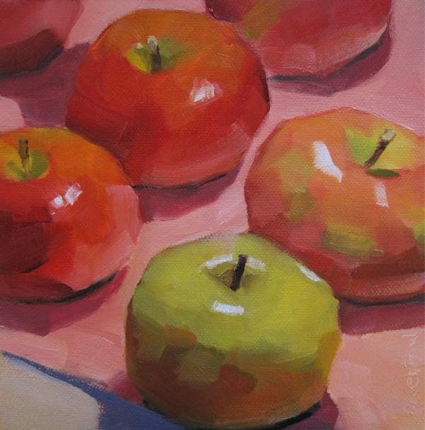 """""""An Apple A Day"""" original fine art by Robin Rosenthal"""