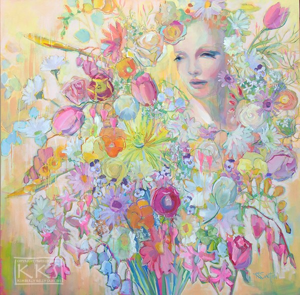 """Posie, Finished"" original fine art by Kimberly Santini"