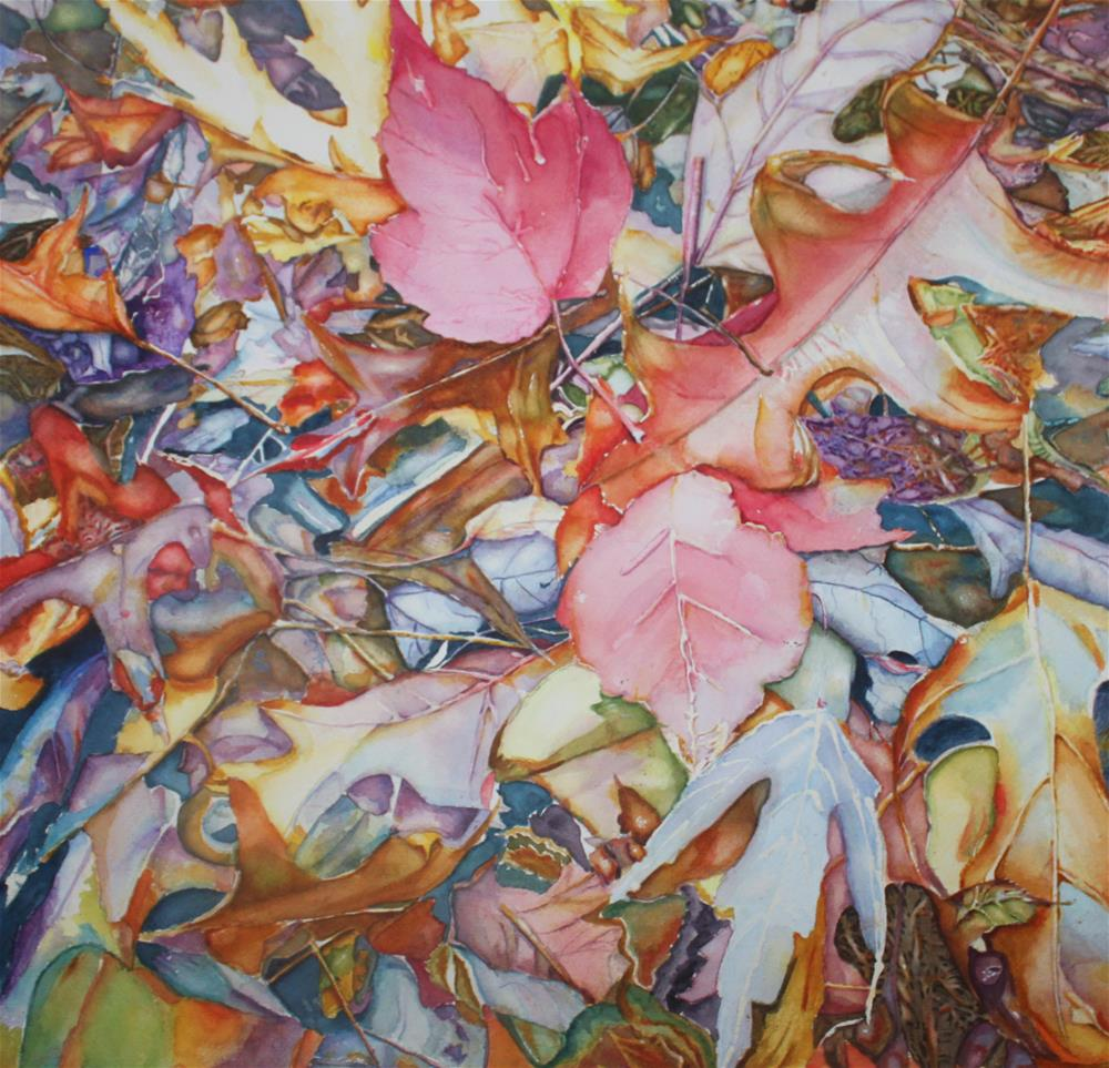 """Forest Floor Tapestry"" original fine art by Christiane Kingsley"