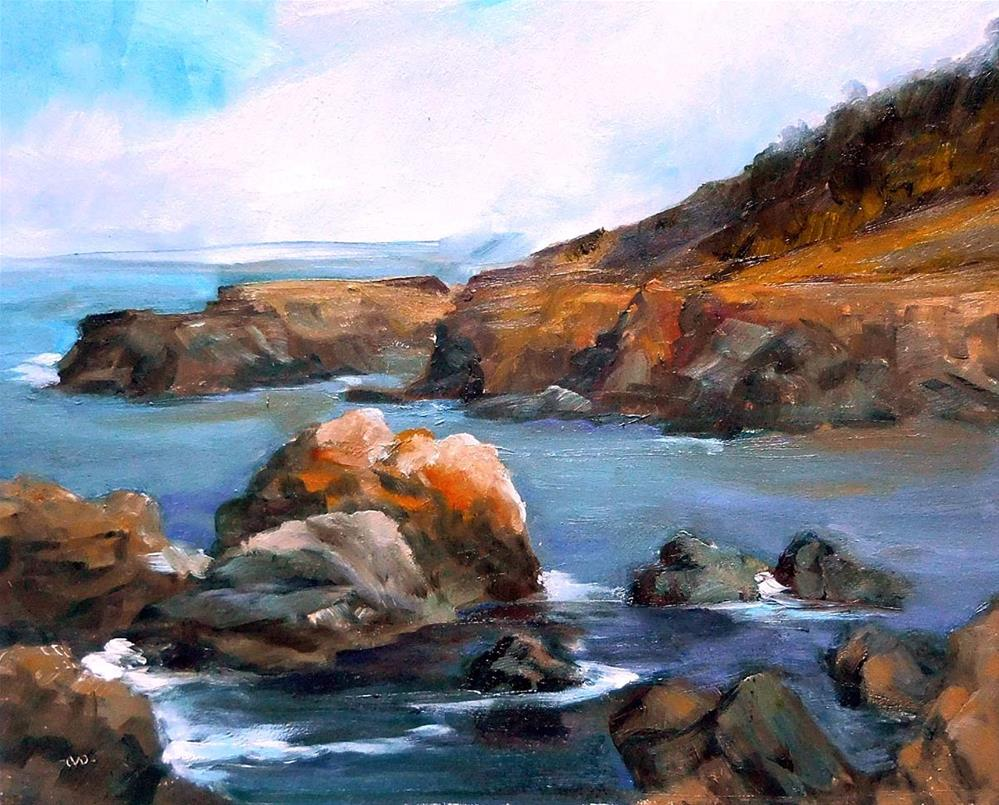 """High Tide by The Inn"" original fine art by Cietha Wilson"