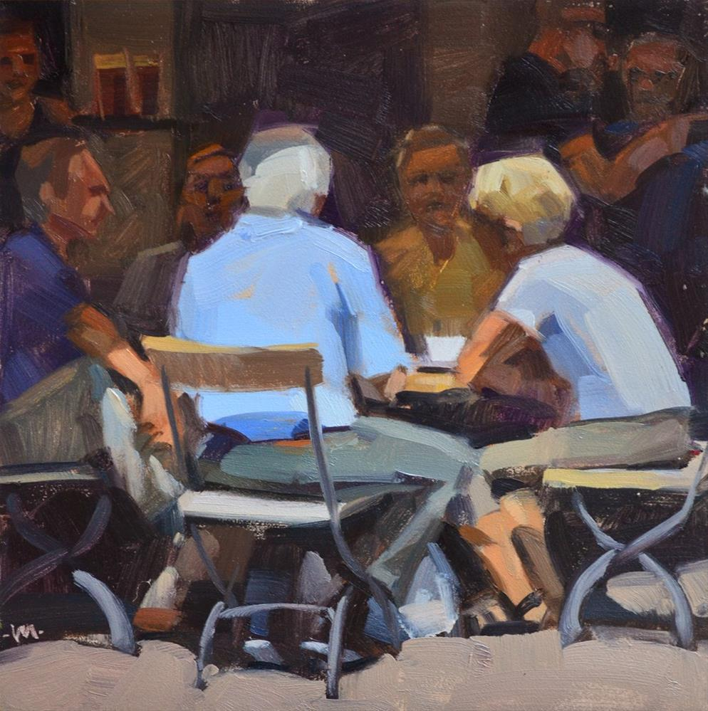 """Lunch in Germany"" original fine art by Carol Marine"