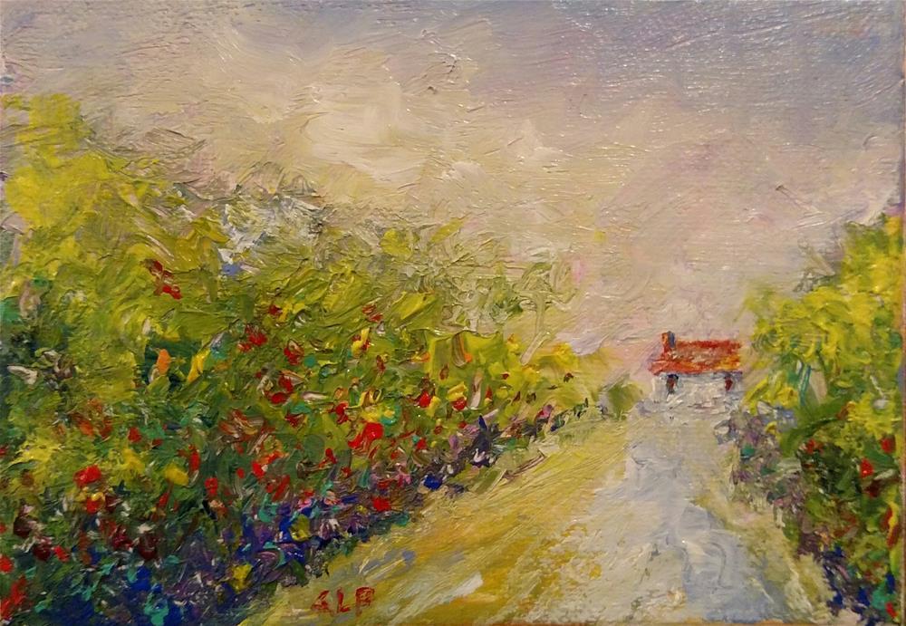 """After the Rain II"" original fine art by S. Lynne Price"