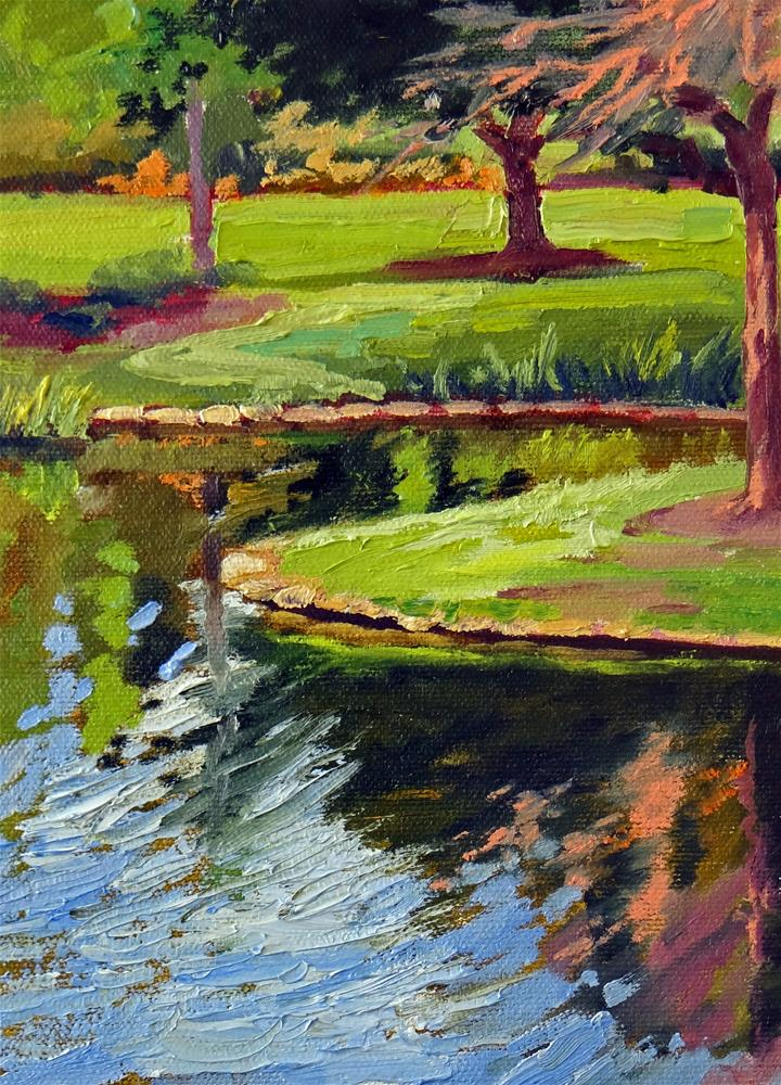 """""""Pond in Spring"""" original fine art by Nancy Paris Pruden"""