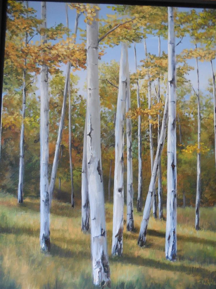 """A Walk Through the Aspens"" original fine art by Terri Nicholson"