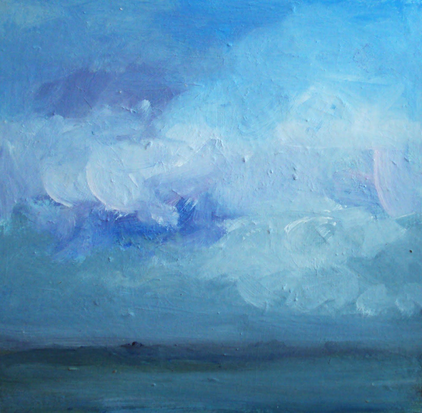 """""""blue sky"""" original fine art by Parastoo Ganjei"""