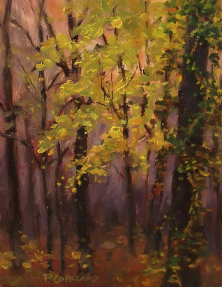 """Sunset in the Park"" original fine art by Pamela H. Copeland"