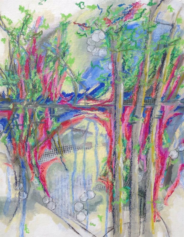 """""""Chebacco Woods Walk"""" original fine art by Dotty  Seiter"""
