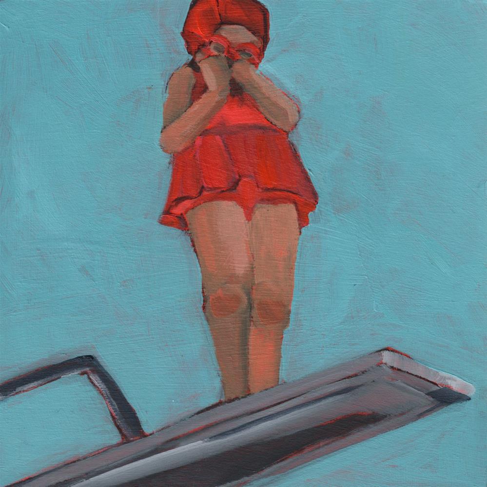 """Double Dog Dare You (#401)"" original fine art by Debbie Miller"