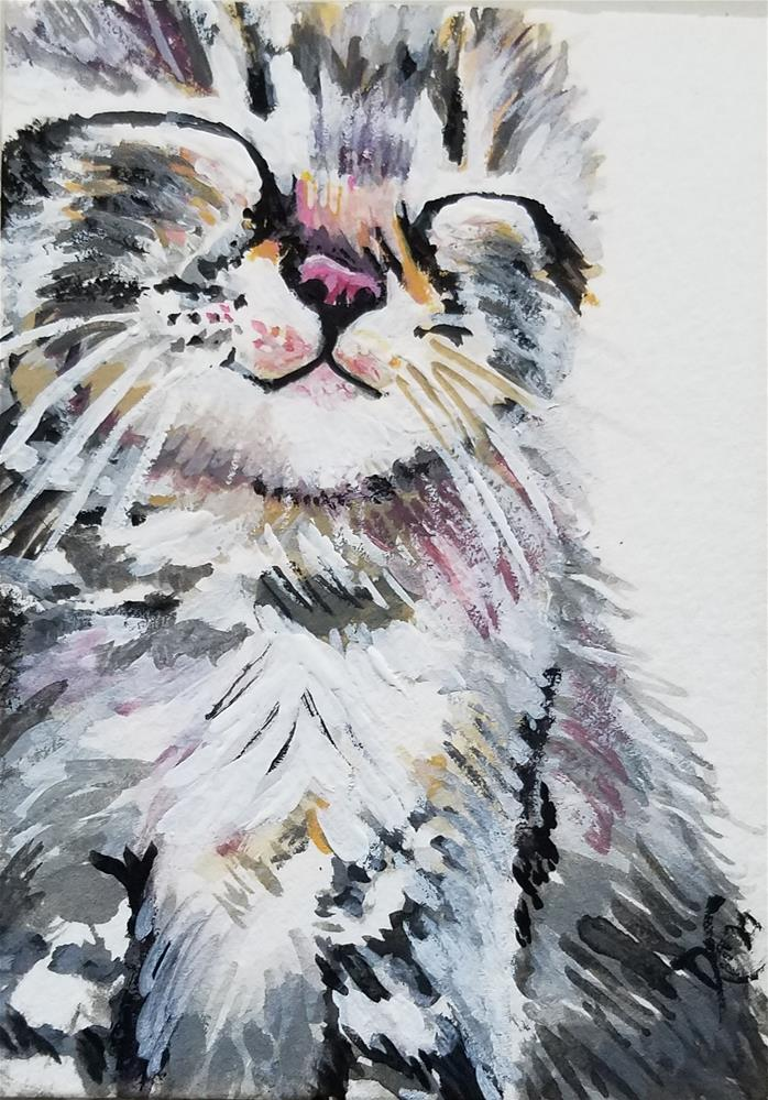 """Purr"" original fine art by Dana C"