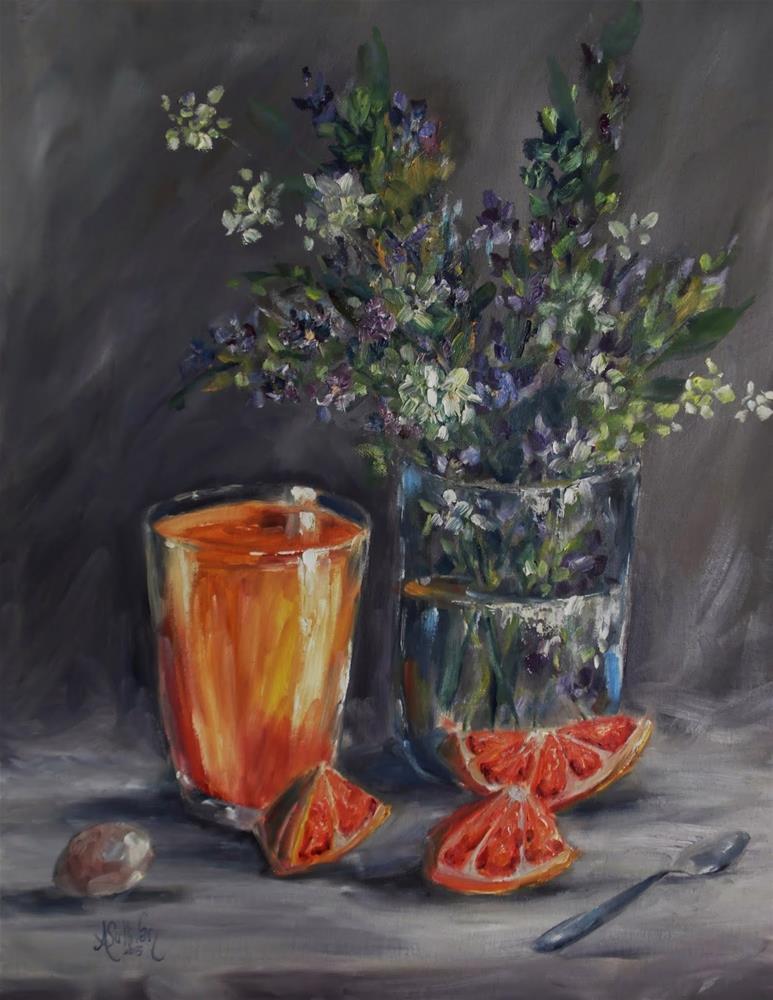 """In Time For Breakfast still life painting by Alabama Artist Angela Sullivan"" original fine art by Angela Sullivan"