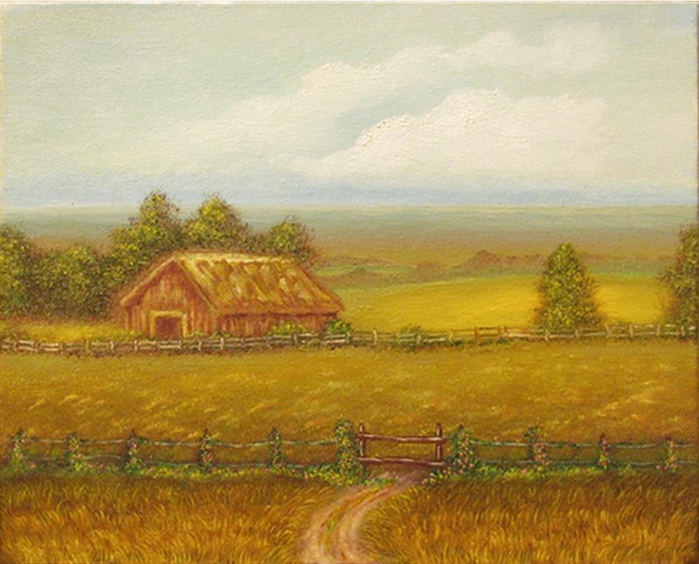 """""""Barn Study 06"""" original fine art by Mary Sylvia Hines"""
