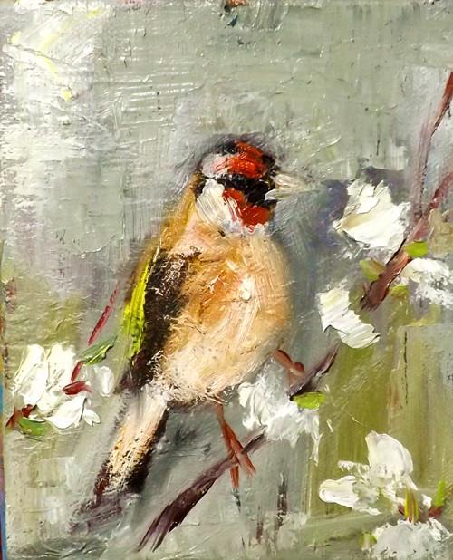 """BIRD ,N5"" original fine art by Run-      Zhang Zane"