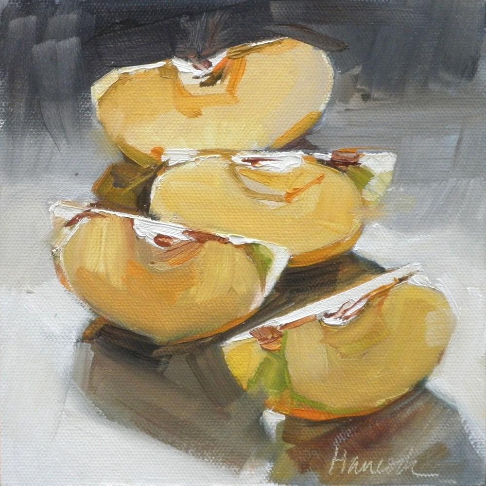 """""""Apple Slices Backlit"""" original fine art by Gretchen Hancock"""