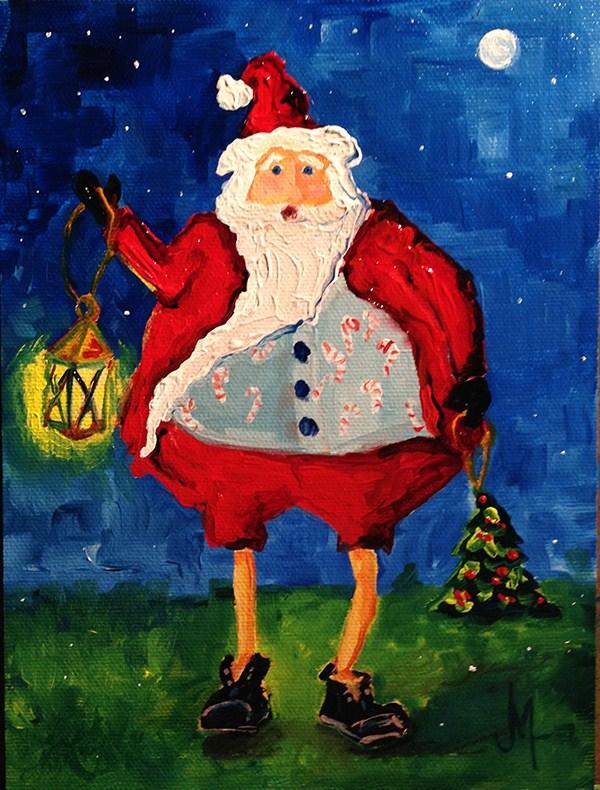 """Santa 2-Oh, Rudolph!"" original fine art by - JanettMarie"