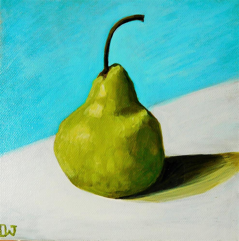 """Waiting Pear"" original fine art by Daryl West"