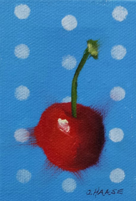 """Polka Cherry 1"" original fine art by Cindy Haase"