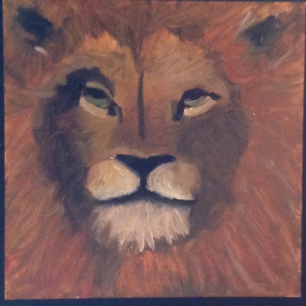 """Lion"" original fine art by Lorraine Funk"