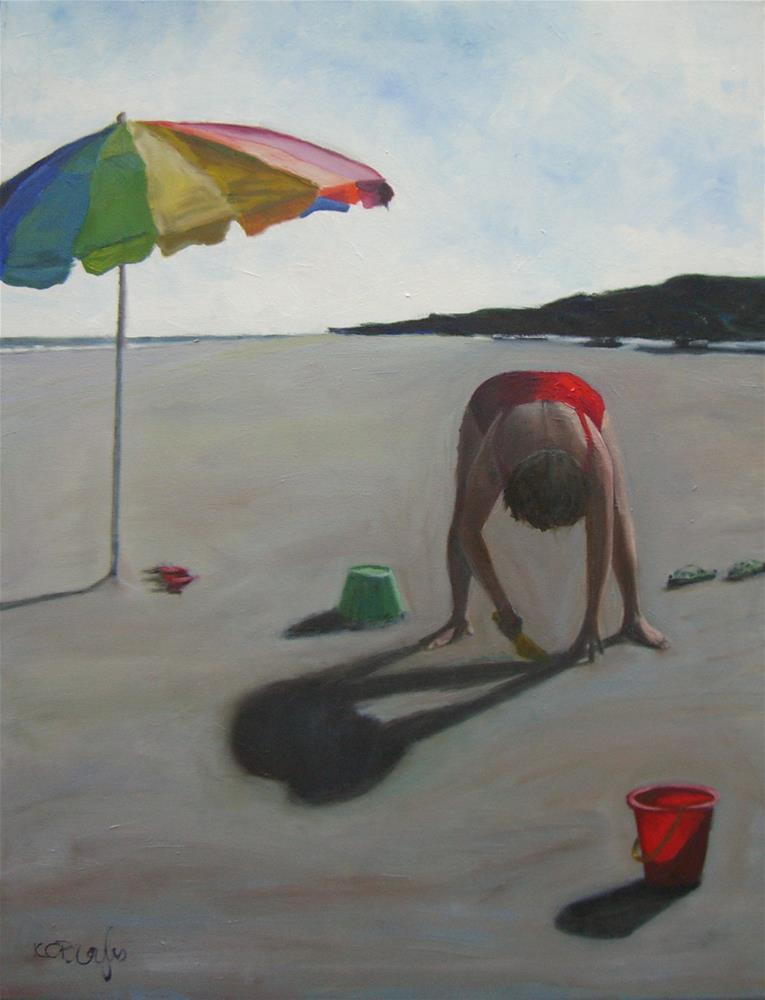 """Sandcastle"" original fine art by Kathy Broyles"
