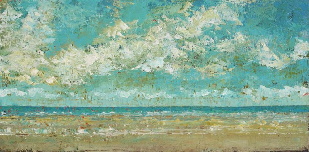 """Up the Beach"" original fine art by Sage Mountain"