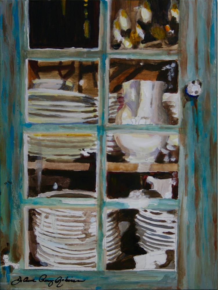 """""""Cupboard Is Not Bare"""" original fine art by JoAnne Perez Robinson"""