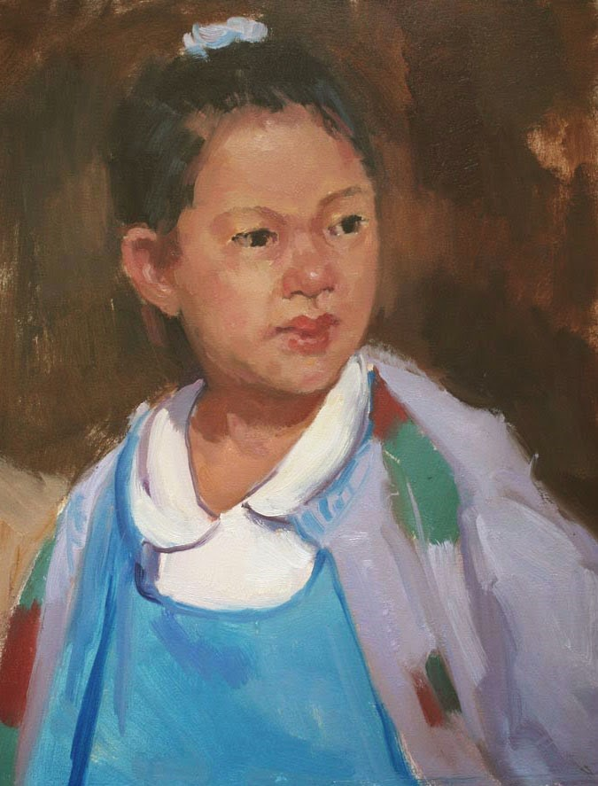 """Chinese Girl - NFS"" original fine art by Kathryn Townsend"