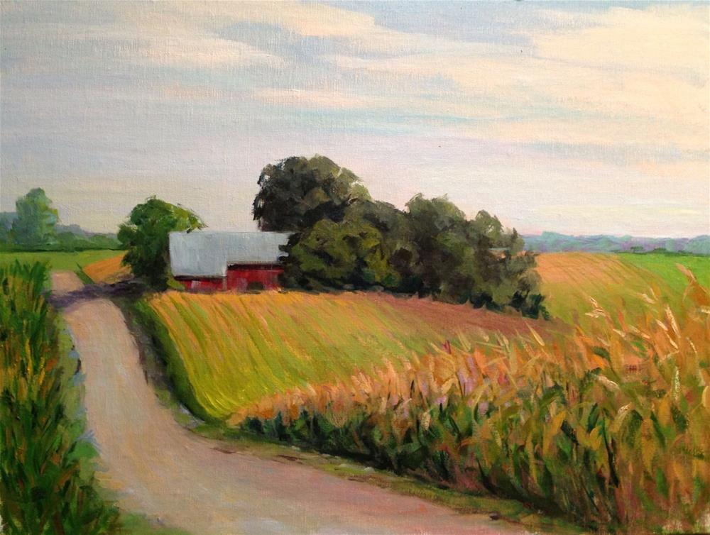 """The Millers Farm"" original fine art by Judith Anderson"