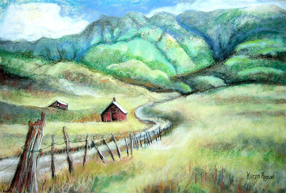 """Valley"" original fine art by Karen Roncari"
