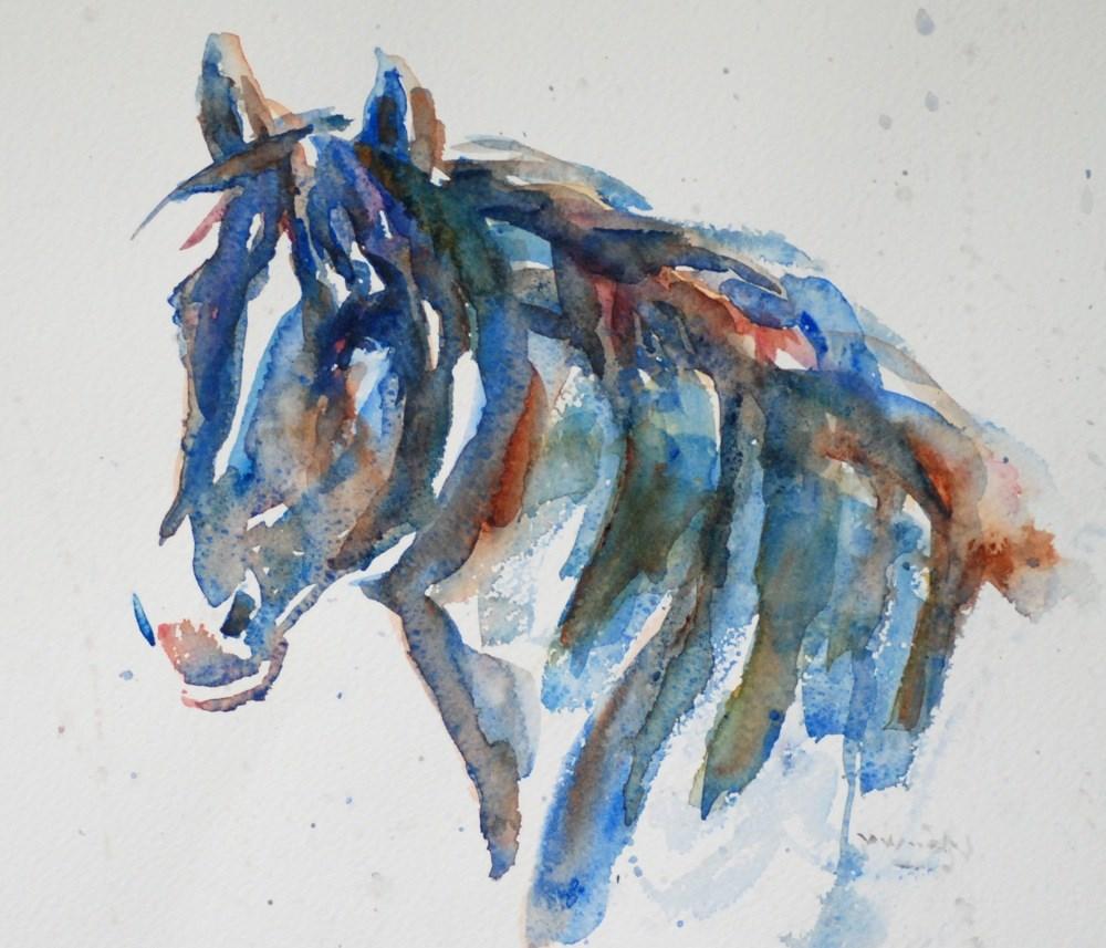 """dark horse II"" original fine art by Vicki Wood"