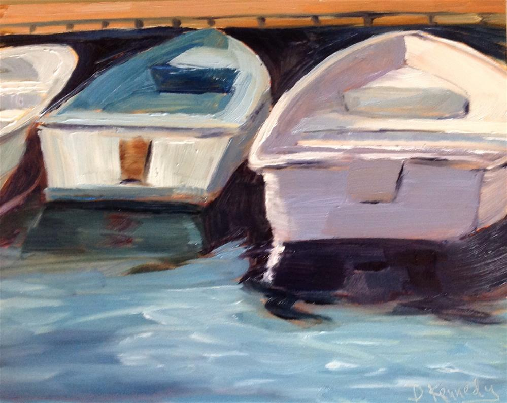 """Dinghies 3"" original fine art by Debra Kennedy"