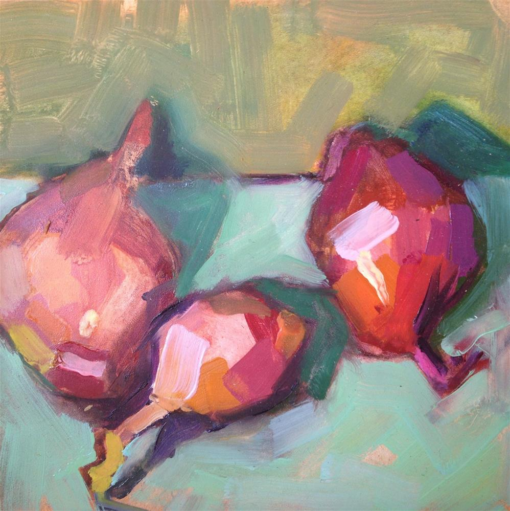"""Sassy Shallots"" original fine art by Pamela Hoffmeister"